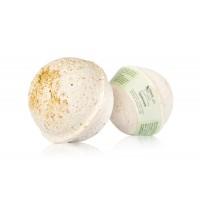 Гейзер (бурлящий шарик) для ванн ГАРМОНИЯ тонизирующий с морской солью, глиной, маслами оливы, винограда, розмарина и мяты ChocoLatte