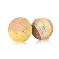 Гейзер (бурлящий шарик) для ванн СЛИВОЧНОЕ ПЕЧЕНЬЕ с морской солью и маслами ChocoLatte
