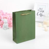 Пакет крафтовый зеленый