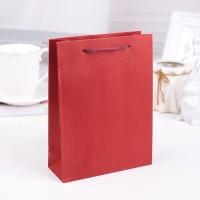 Пакет крафтовый красный
