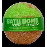 Шарик для ванн APPLE&CINNAMON (с пеной, эфирным маслом корицы и экстрактом яблока) Savonry